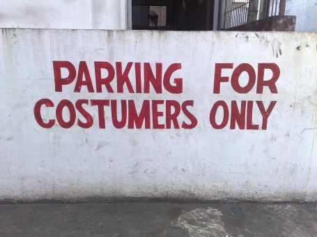 Say whatttt??? Costumers? You mean those who wear costumes?