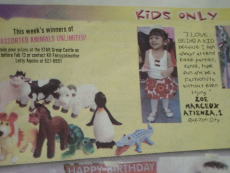That's Zoe for Philippine STAR's Kids Only