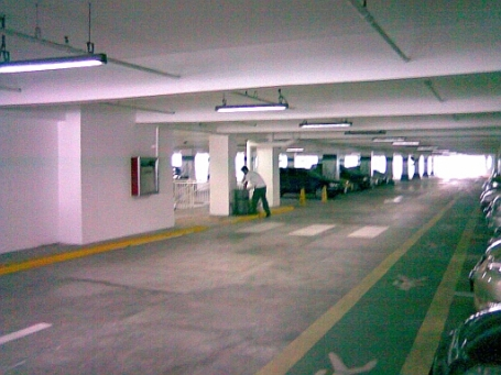 Parking lots are everywhere so no reason for drivers to park their cars at non-parking areas